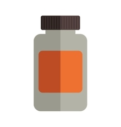 remedy bottle with tap and label vector image