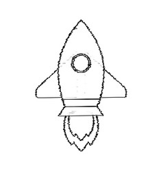 rocket sketch start up vector image