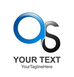 s letter logo os letter creative logo design icons vector image