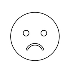 Sad face isolated icon vector
