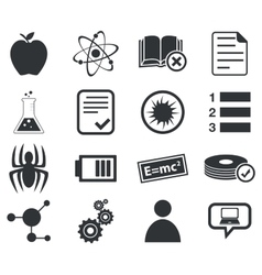 Science icon set 1 simple vector