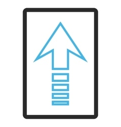 Send Up Framed Icon vector