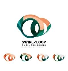 Set infinity concepts loop logo designs vector