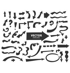 Set of cartoon arrows hand drawn design elements vector