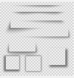 set of square shadow vector image