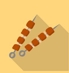 shashlik icon flat style vector image