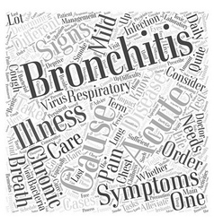 Sign and symptom of bronchitis Word Cloud Concept vector