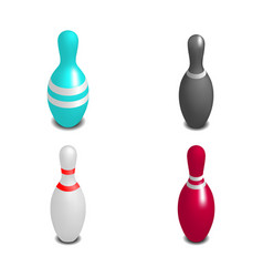 Skittles for bowling 3d vector
