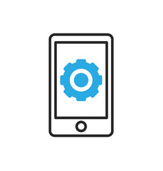 Smartphone icon mobile settings vector