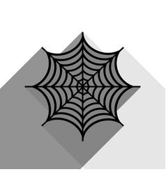 spider on web black icon vector image