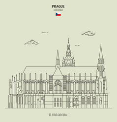 st vitus cathedral in prague czech republic vector image