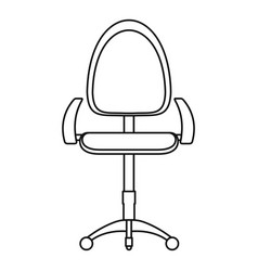 Stool icon outline style vector