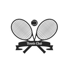 tennis racquets with ball vector image