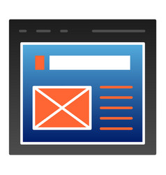 The browser flat icon website window color icons vector
