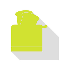toaster simple sign pear icon with flat style vector image
