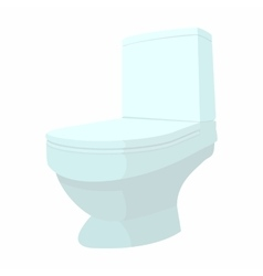 Toilet cartoon icon vector