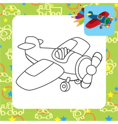 Toy plane for coloring vector