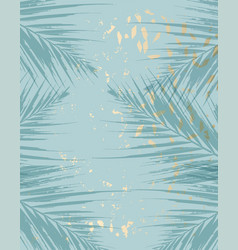 trendy chic pattern in tropical style and gold vector image