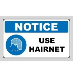 Use hair net sign vector