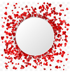 valentines day banner hearts round frame banner vector image