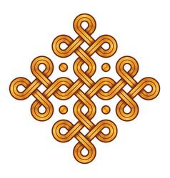 Viking decorative knot - engraved gold - ring vector