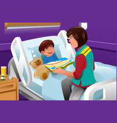 volunteer at the children hospital vector image