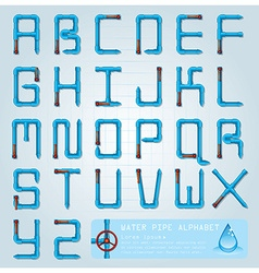 Water Pipe Alphabet Character Design Template vector
