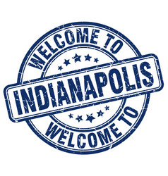 Welcome to indianapolis blue round vintage stamp vector