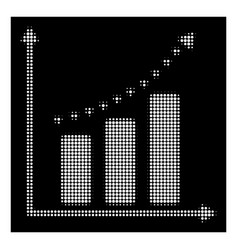 white halftone dotted positive trend icon vector image