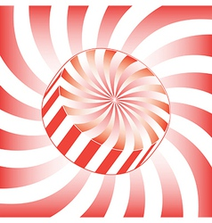 White Stripe Hard Candy vector image