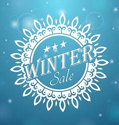 Winter sale Snowflake vector image