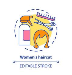 Women haircut concept icon hair care vector