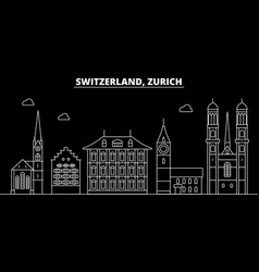 Zurich silhouette skyline switzerland - zurich vector