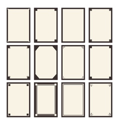 12 blanks Template for your design vector image