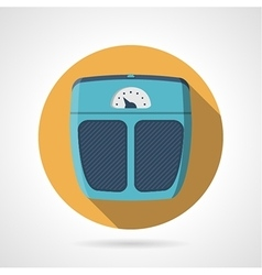 Flat color icon for scales vector image
