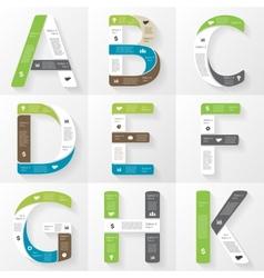 Font infographic diagram presentation letters a b vector