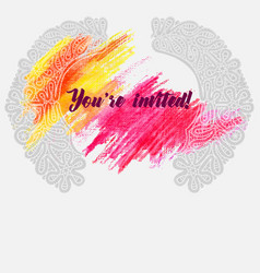 Invitation with a lace vector