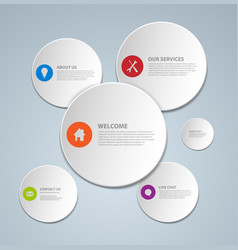 abstract web page template made from circles vector image vector image