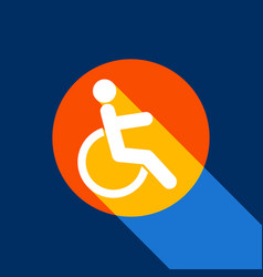 disabled sign white icon on vector image