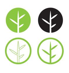 leave logo design set nature logo in circle vector image