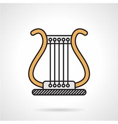 Lyra flat color icon vector image