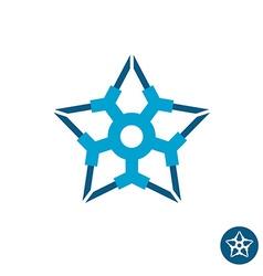 Star tech logo vector image