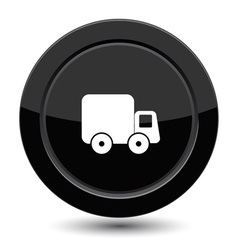 Button with truck vector image vector image