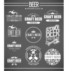 Set of beer labels vector image