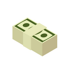 stack of cash isolated pile of money pack of vector image