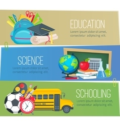 templates to education school banners vector image