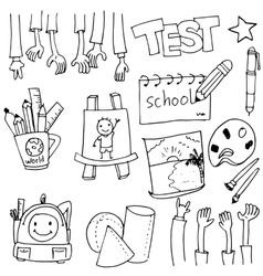 Tools education doodles art vector image vector image