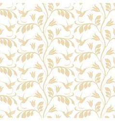 Floral pattern Hummingbird vector image