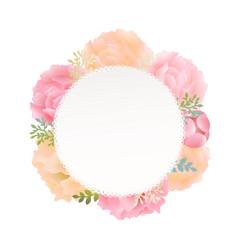 Flower peony vector