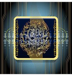 Golden brains vector image
